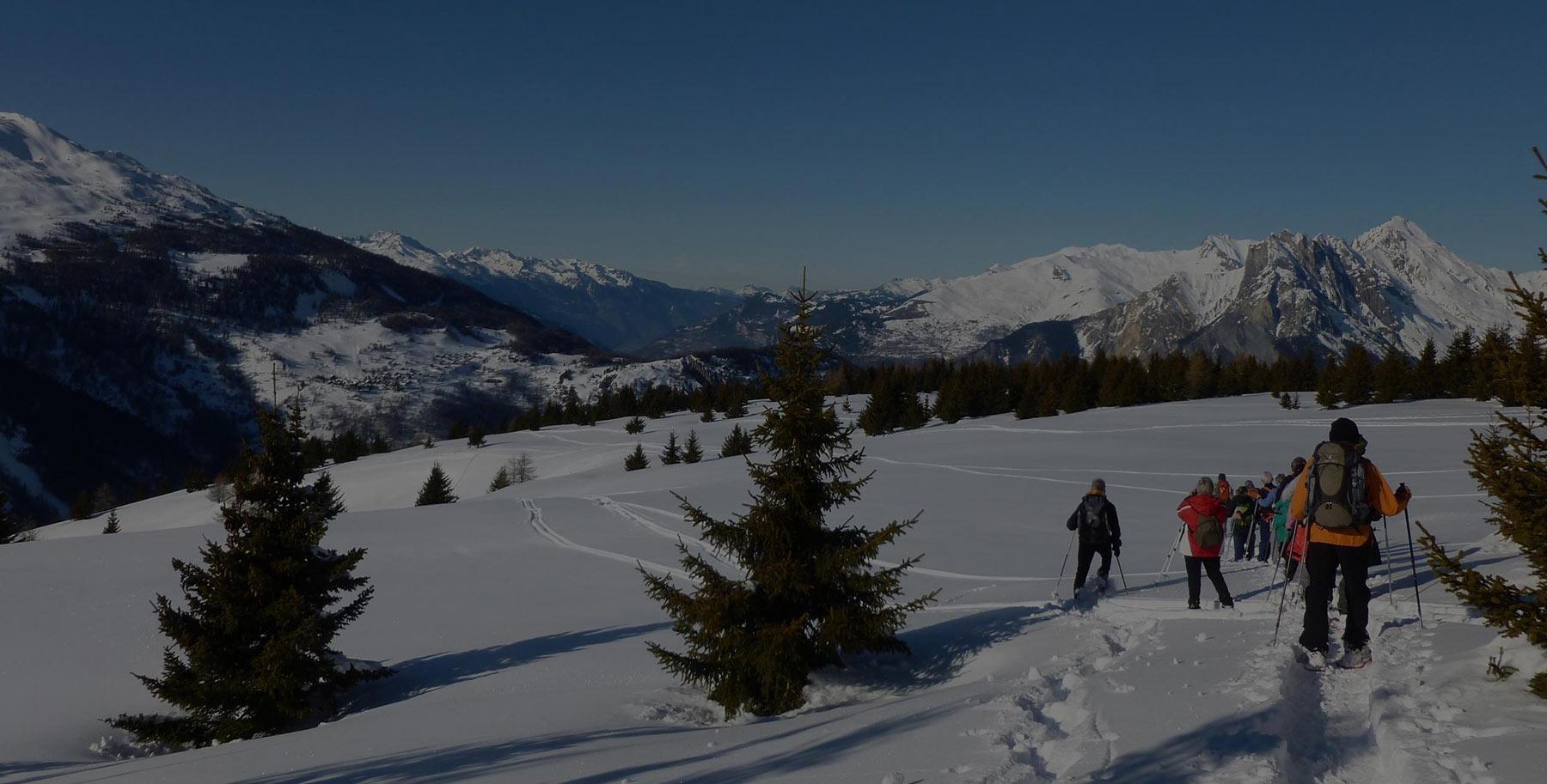 Balades en raquette à Valmeinier